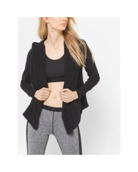 Michael Kors | Black Active Stretch Jersey Hoodie, Plus Size | Lyst