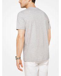 Michael Kors - Gray Painterly Camo Logo Cotton T-shirt for Men - Lyst
