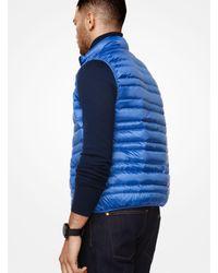 Michael Kors - Blue Quilted-nylon Vest for Men - Lyst