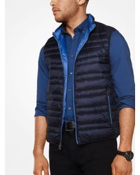 Michael Kors - Blue Quilted-nylon Vest for Men - Lyst