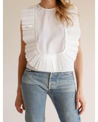 Sea | White Pleated Bib Top | Lyst