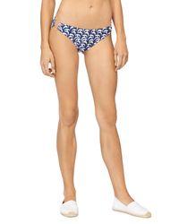MILLY   Blue Sailboat Print Barbados Bikini Bottom   Lyst