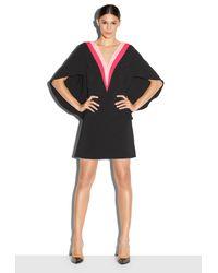 MILLY - Black Italian Cady Colorblock Beetle Dress - Lyst