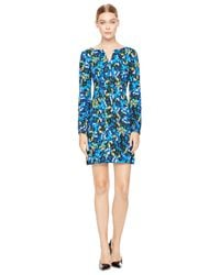 MILLY | Blue Jewel Print Molly Dress | Lyst