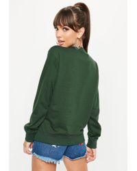 Missguided - Barbie X Green City Printed Sweatshirt - Lyst