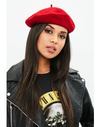 Missguided - Red Beret - Lyst