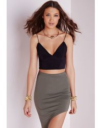 Missguided - Slinky Bralet Black - Lyst