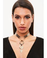 Missguided   Metallic Gold Statement Necklace   Lyst