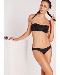 Missguided - Neoprene Bikini Bottoms Black - Lyst