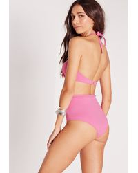 Missguided - Underwired Push Up Bikini Top Pink - Mix & Match - Lyst