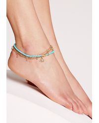 Missguided | Metallic Anklet Tattoos | Lyst