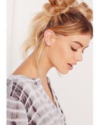 Missguided - Metallic 9 Pack Stud Earrings Set Multi - Lyst