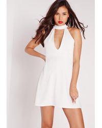 Missguided - Choker Shift Dress White - Lyst