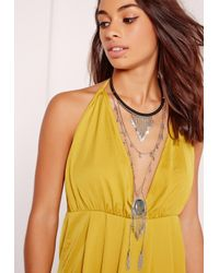 Missguided | Metallic Statement Layered Necklace | Lyst