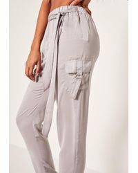 Missguided - Gray Side Pocket D Ring Trouser Grey - Lyst