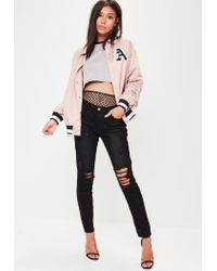 Missguided - Natural Nude Brooklyn Oversized Coach Jacket - Lyst