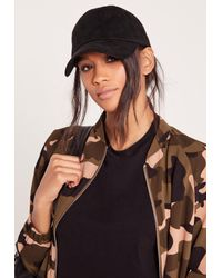 Missguided | Faux Suede Baseball Cap Black for Men | Lyst