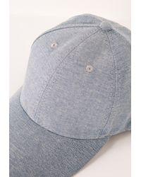 Missguided - Blue Denim Wash Cap - Lyst
