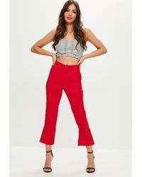 Missguided - Gray Plaid Cut Out Bralette - Lyst