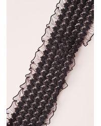 Missguided - Elastic Lace Choker Black - Lyst