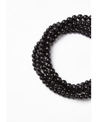 Missguided - Black Layered Pearl Choker Necklace - Lyst