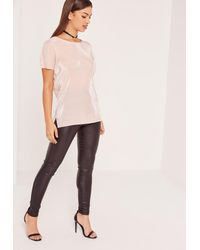 Missguided - Multicolor Nude Pleated Tunic - Lyst