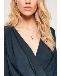 Missguided - Metallic Gold Taurus Star Sign Necklace - Lyst