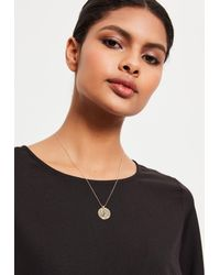Missguided - Metallic Gold Cancer Star Sign Necklace - Lyst