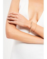 Missguided - Metallic Gold 2 Pack Simple Chain Bracelets - Lyst