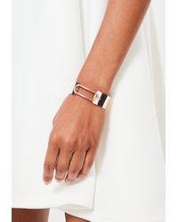 Missguided | Multicolor Rose Gold Wide Metallic Bracelet | Lyst
