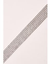 Missguided - Metallic Silver Chainmail Choker - Lyst