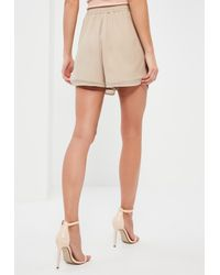Missguided - Multicolor Nude Premium Sequin Shorts - Lyst
