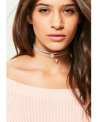 Missguided | Metallic Gold 3 Pack Choker Necklace Set | Lyst