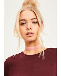 Missguided - Pink & Blue 2 Pack Choker Necklaces - Lyst