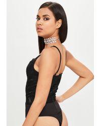 Missguided - Carli Bybel X Black Lace Bodysuit - Lyst