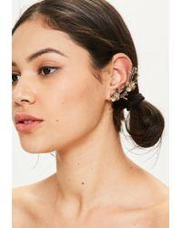 Missguided | Metallic Gold Floral Ear Cuff | Lyst