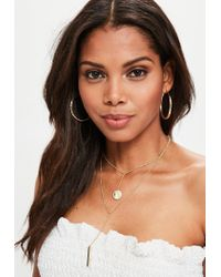 Missguided - Metallic Gold Layered Necklace - Lyst