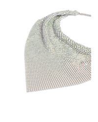 Missguided - Metallic Silver Look White Multi Chainmail Necklace - Lyst