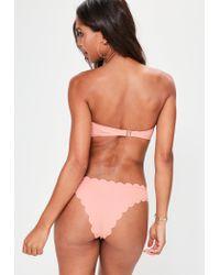 Missguided - Pink Scallop Bikini Set - Lyst