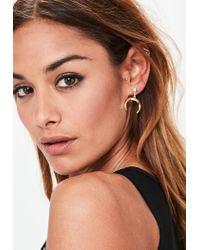 Missguided - Metallic Gold Moon Drop Earrings - Lyst