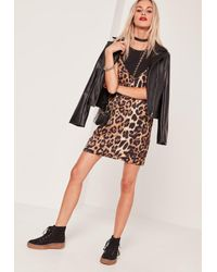 Missguided | Multicolor Leopard Print 2 In 1 Dress Black | Lyst