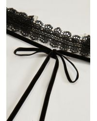 Missguided - Black Lace Choker Necklace - Lyst