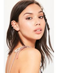 Missguided - Metallic Gold Diamante Ear Cuff - Lyst