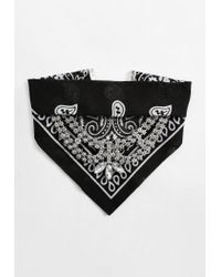 Missguided - Black Bandanna Diamante Choker Necklace - Lyst