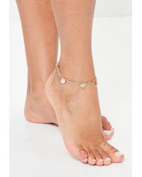 Missguided - Metallic Gold Chain Anklet - Lyst