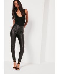 Missguided - Scoop Back Bodysuit Black-16 - Lyst