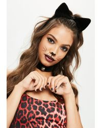 Missguided - Halloween Black Headband And Choker Set - Lyst