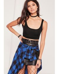 Missguided - Sporty Crop Top Black - Lyst
