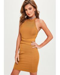 2cf3fdc0 Lyst - Missguided Gold Sequin Bodycon Mini Dress in Metallic