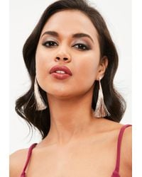 Missguided - Multicolor Mink Tassel Drop Earrings - Lyst